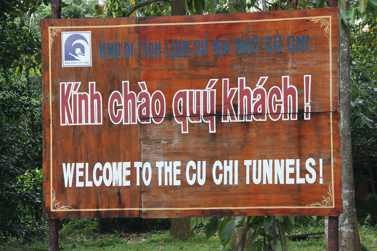 Cu Chi Tunnels Welcoming Sign