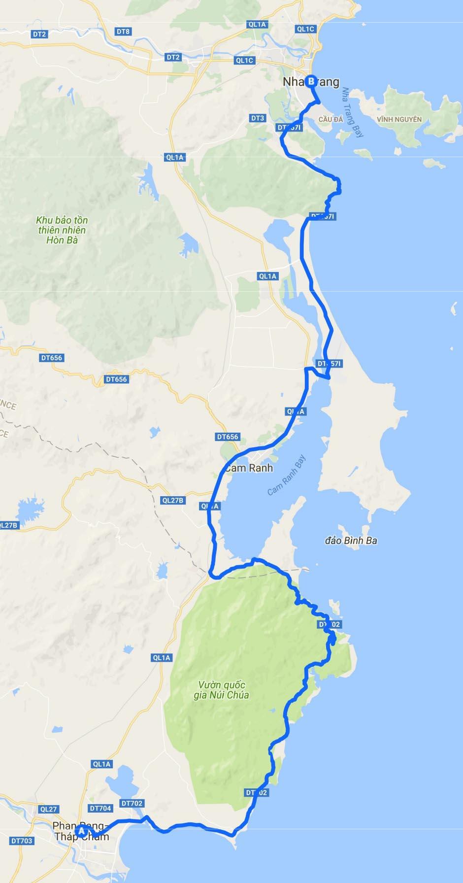 Vietnam routes and maps by motorbike TigitMotorbikes