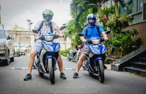 two guys on two Yamaha Exciter 150cc ready to hit the road