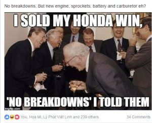 Honda Win Scam