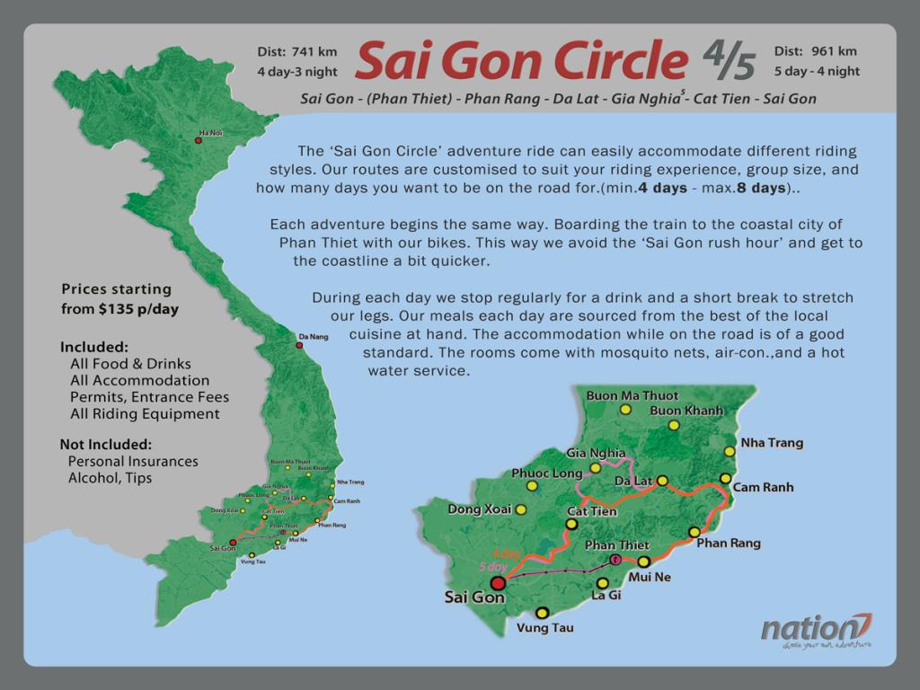 Saigon Circle 4/5 Days