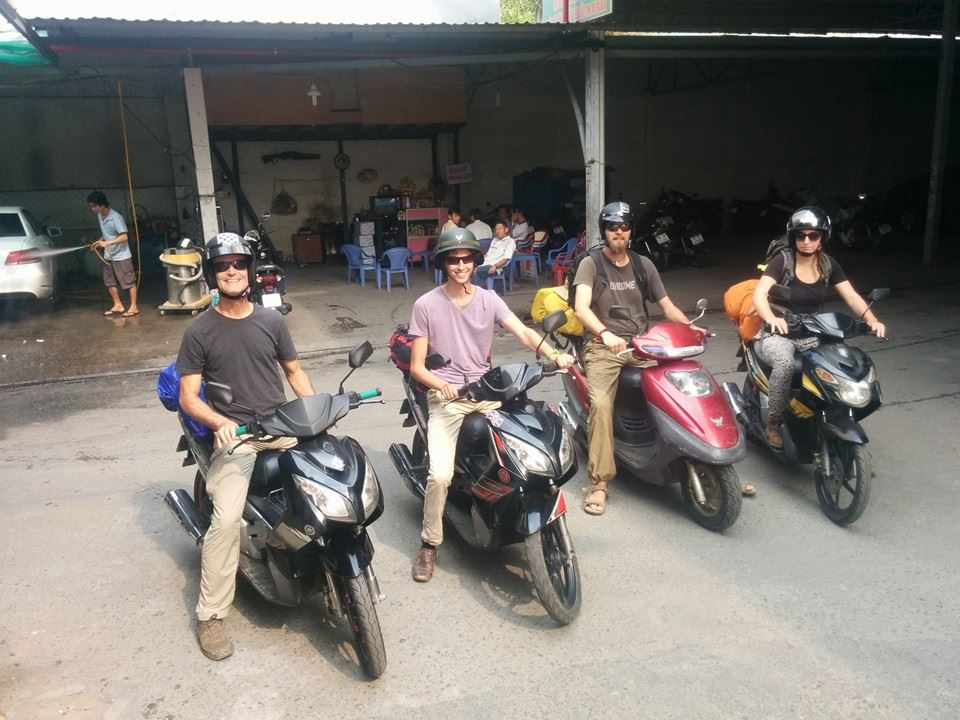 foreigners on cheap motorbikes