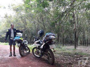 XR150_in_rubber_plantation