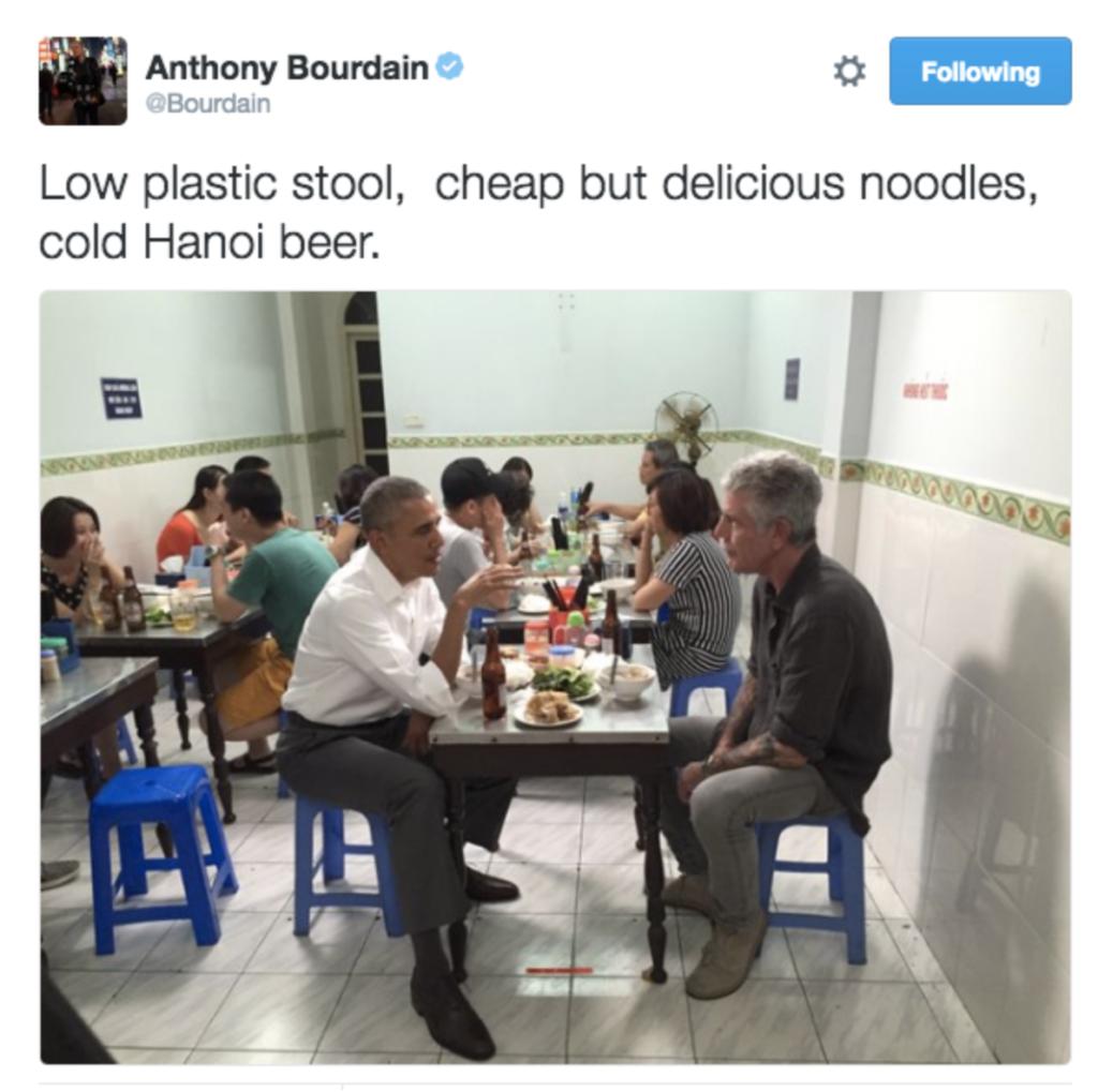 Anthony Bourdain Barack Obama