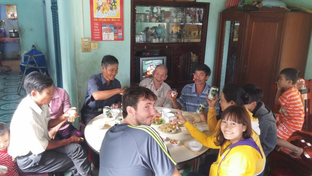 drinking with the Vietnamese locals