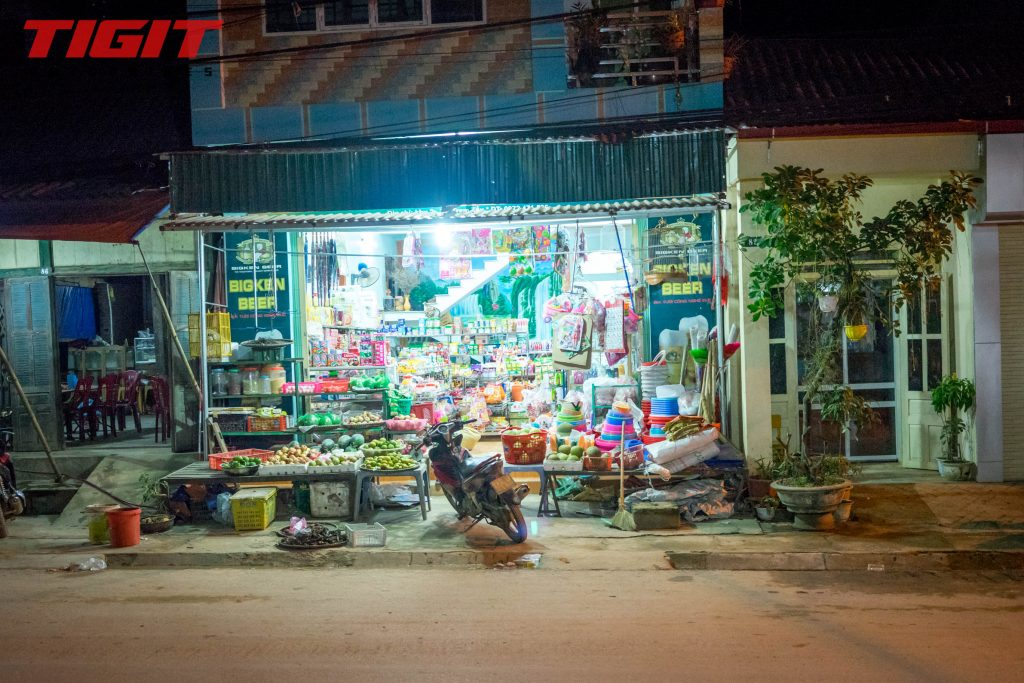 a countryside convenience store in Vietnam