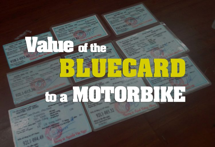 Vietnam Motorcycle Bluecard