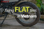 How to fix flat tires in Vietnam