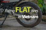 How to fix flat tires in Vietnam