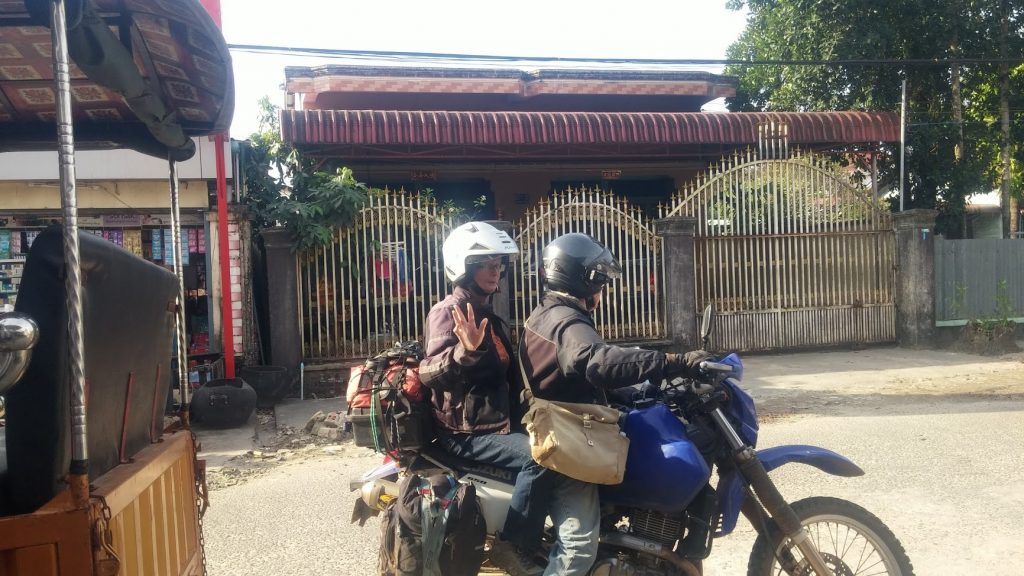 Adventure motorbikers, traveling and crossing borders