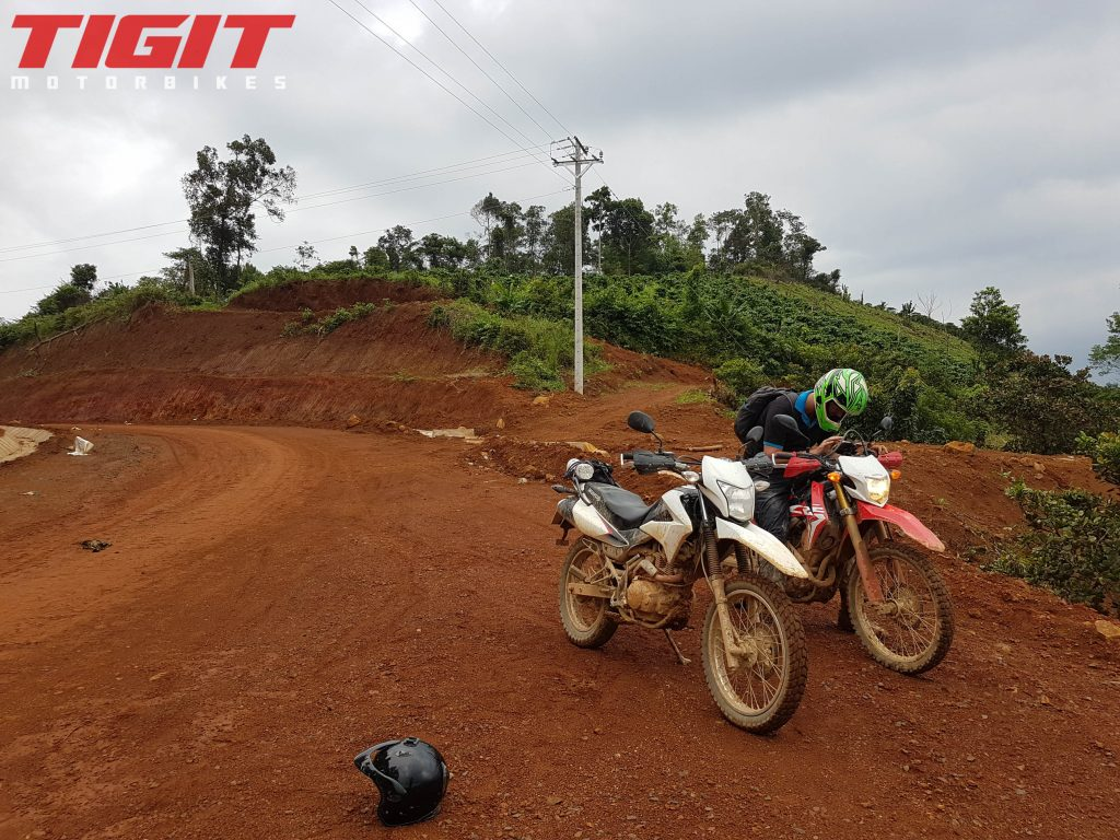 Getting lost on a motorbike