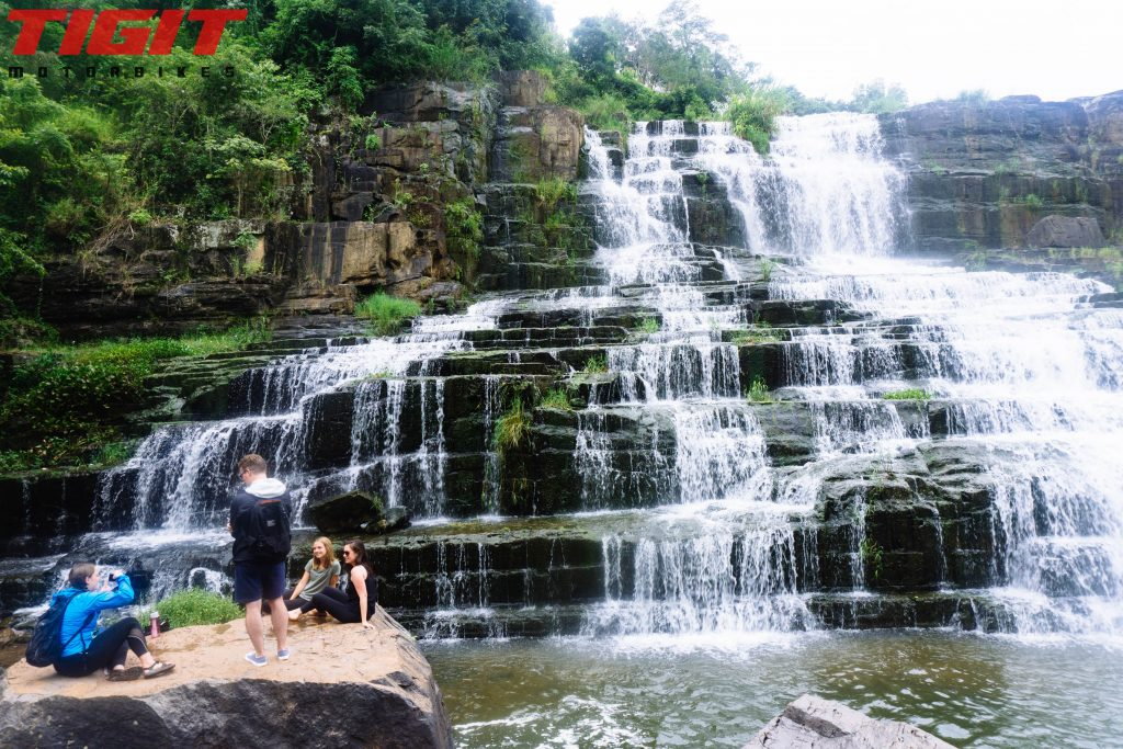 Pongour Waterfall tourists