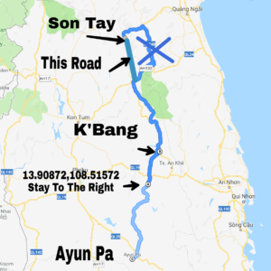 map between K'Bang and Son Tay