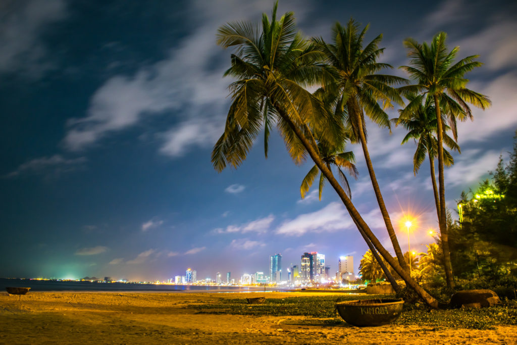 Da Nang Beach at night