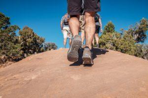 Hiking a hill
