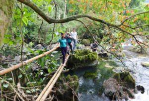 Nuoc Mooc Spring Eco Trail bamboo Bridge