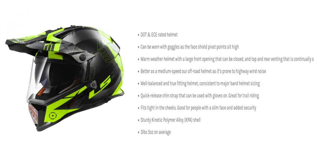 Full face helmet details