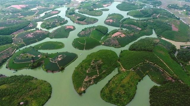 Đập Cầu Cau Ho aerial view