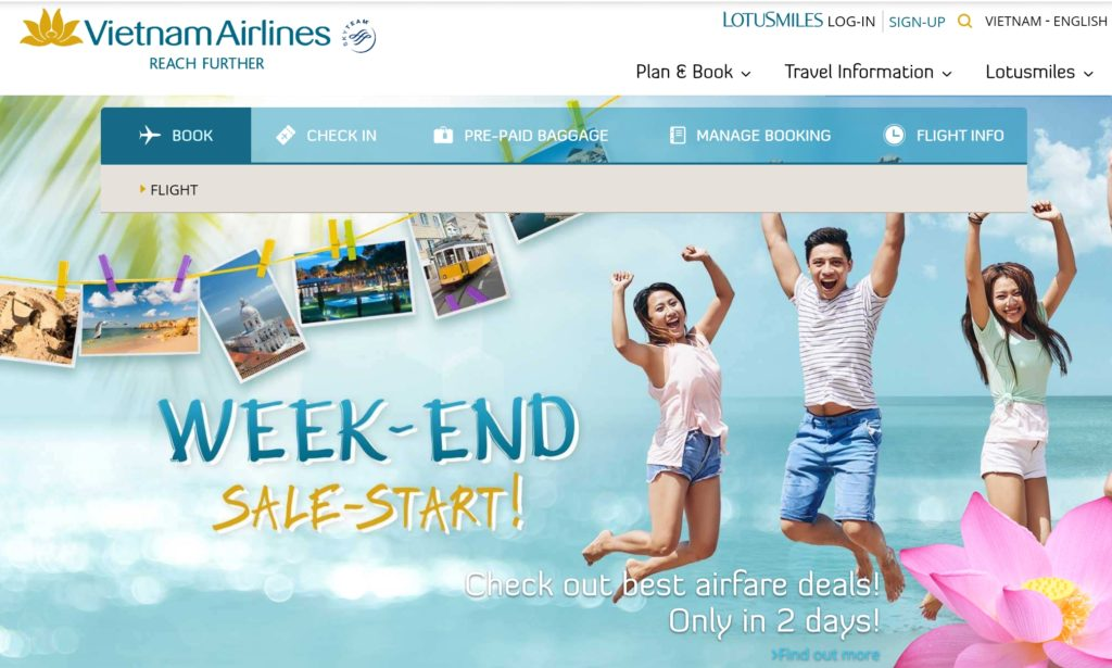Vietnam Airlines Home Page