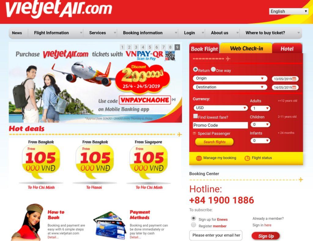 VietJet Home Page