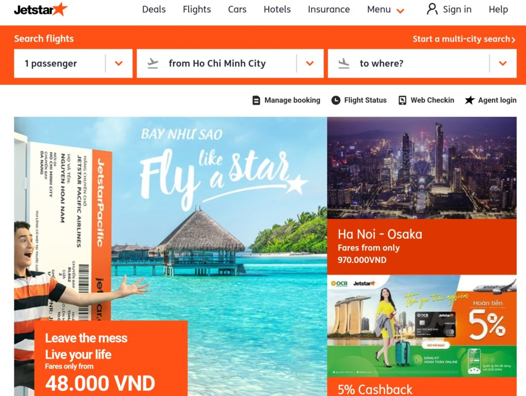 Jetstar Home Page