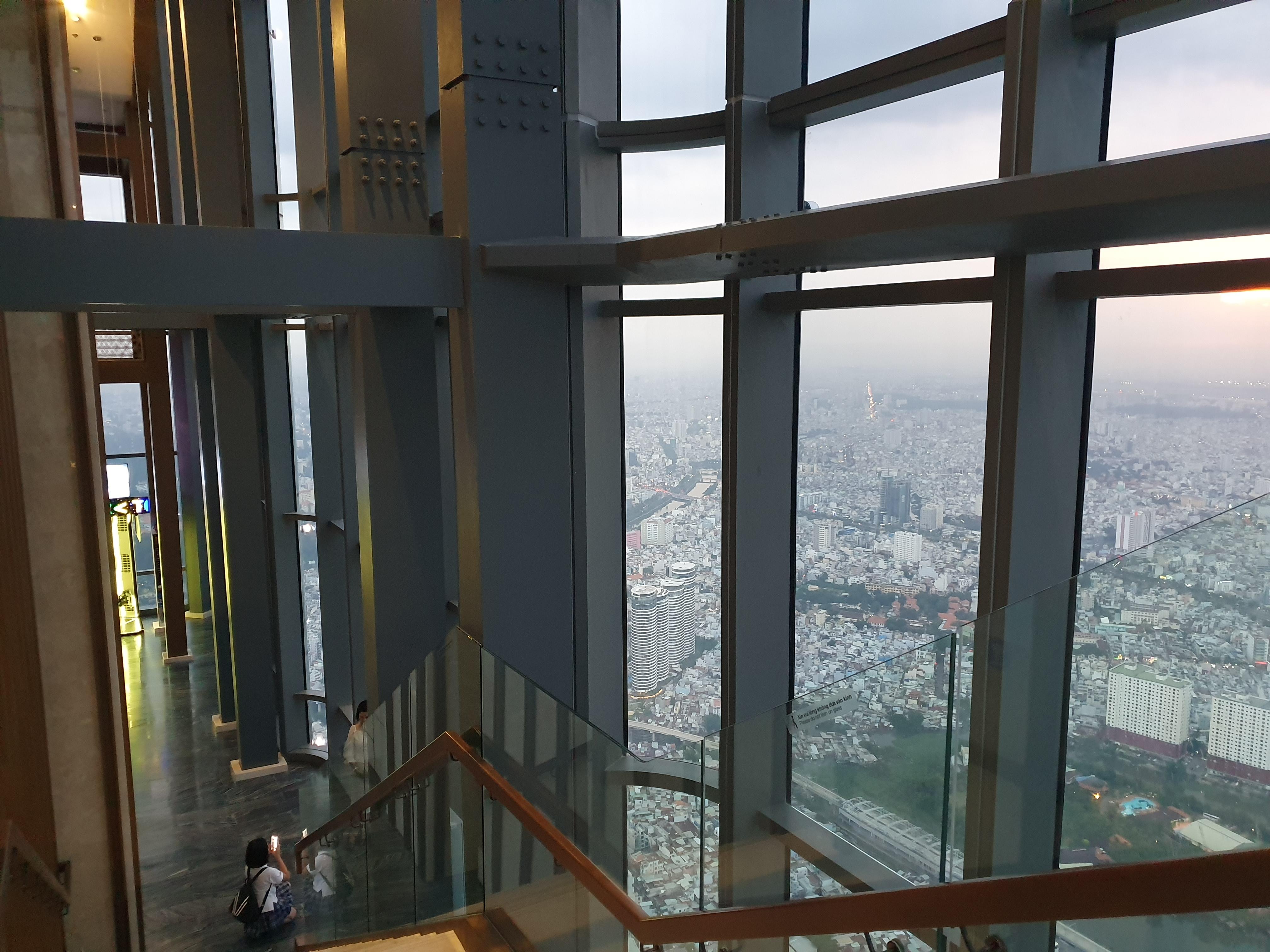 Stairs of landmark 81