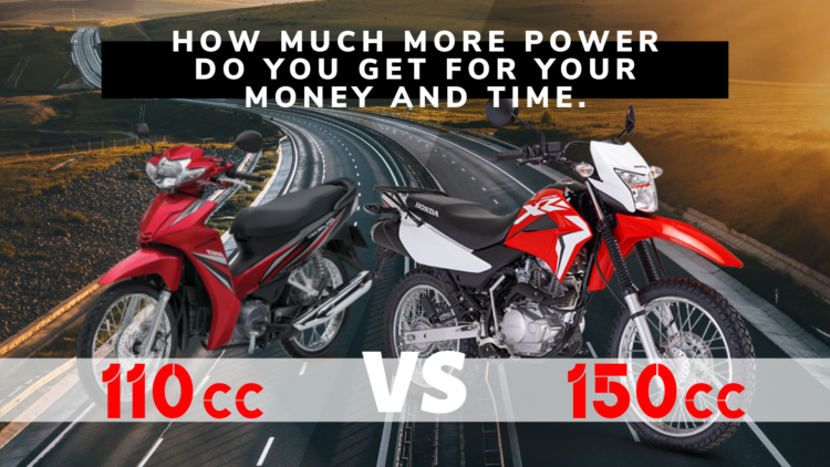 Comparing 110cc to 150cc Motorbikes: How much more power do you get?