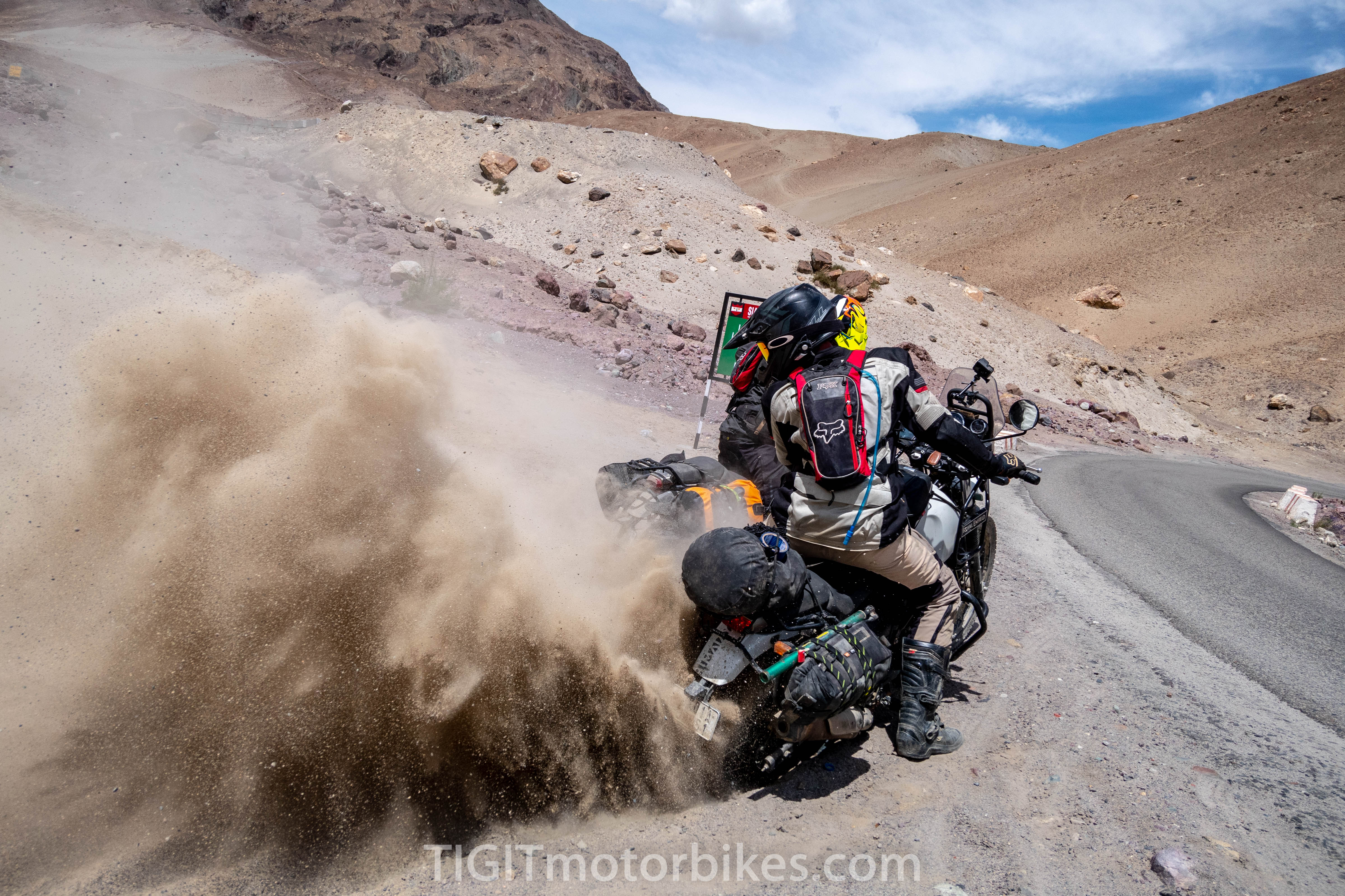 Royal Enfield Himalayan getting abused