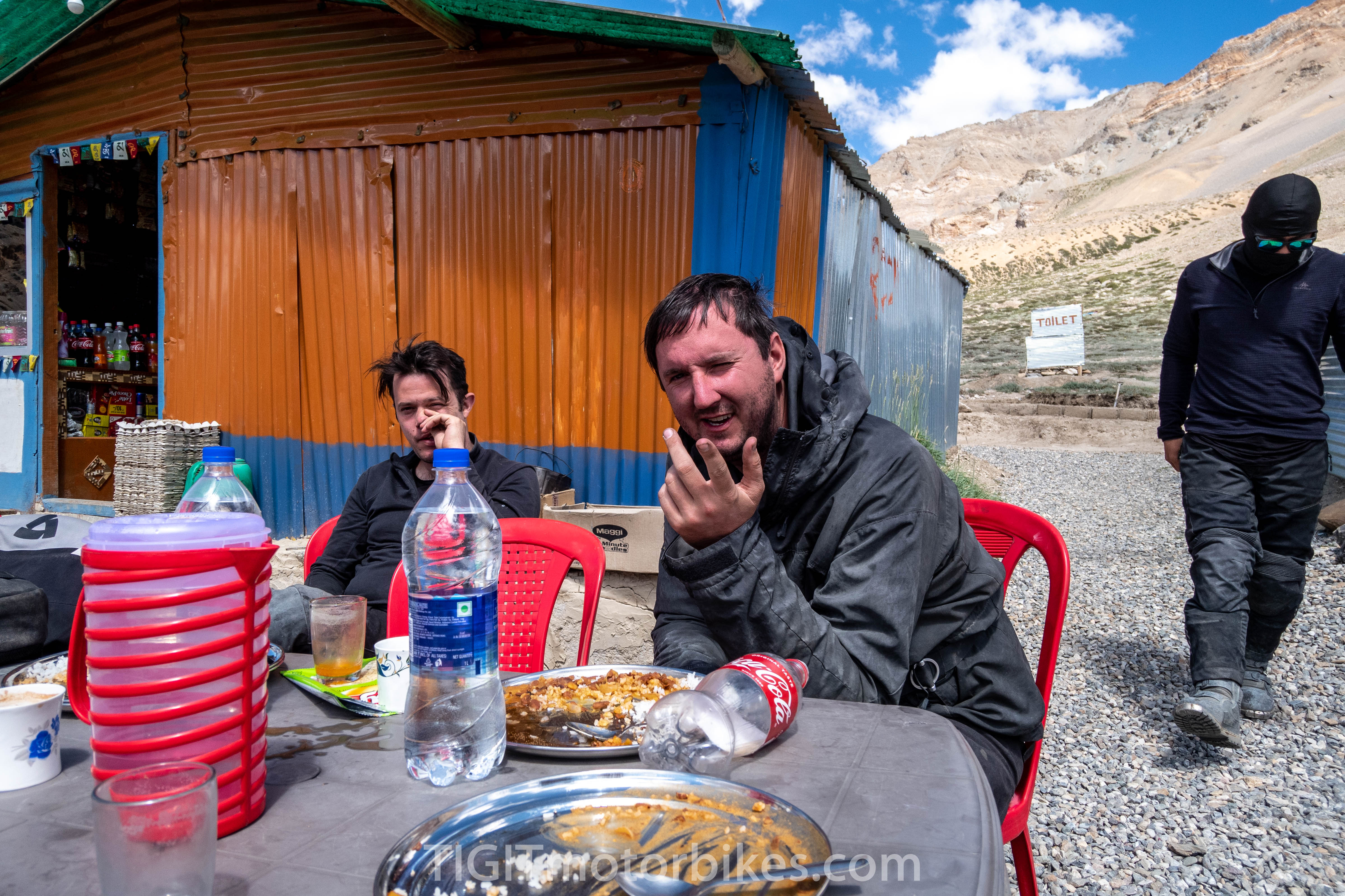 A high altitude meal in the Himalayas