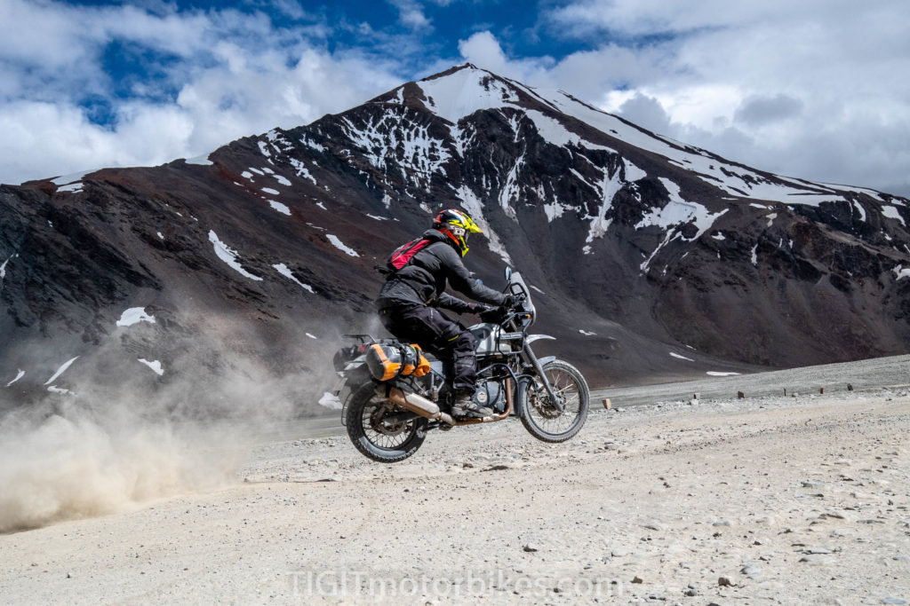 Jumping a Royal Enfield Himalayan