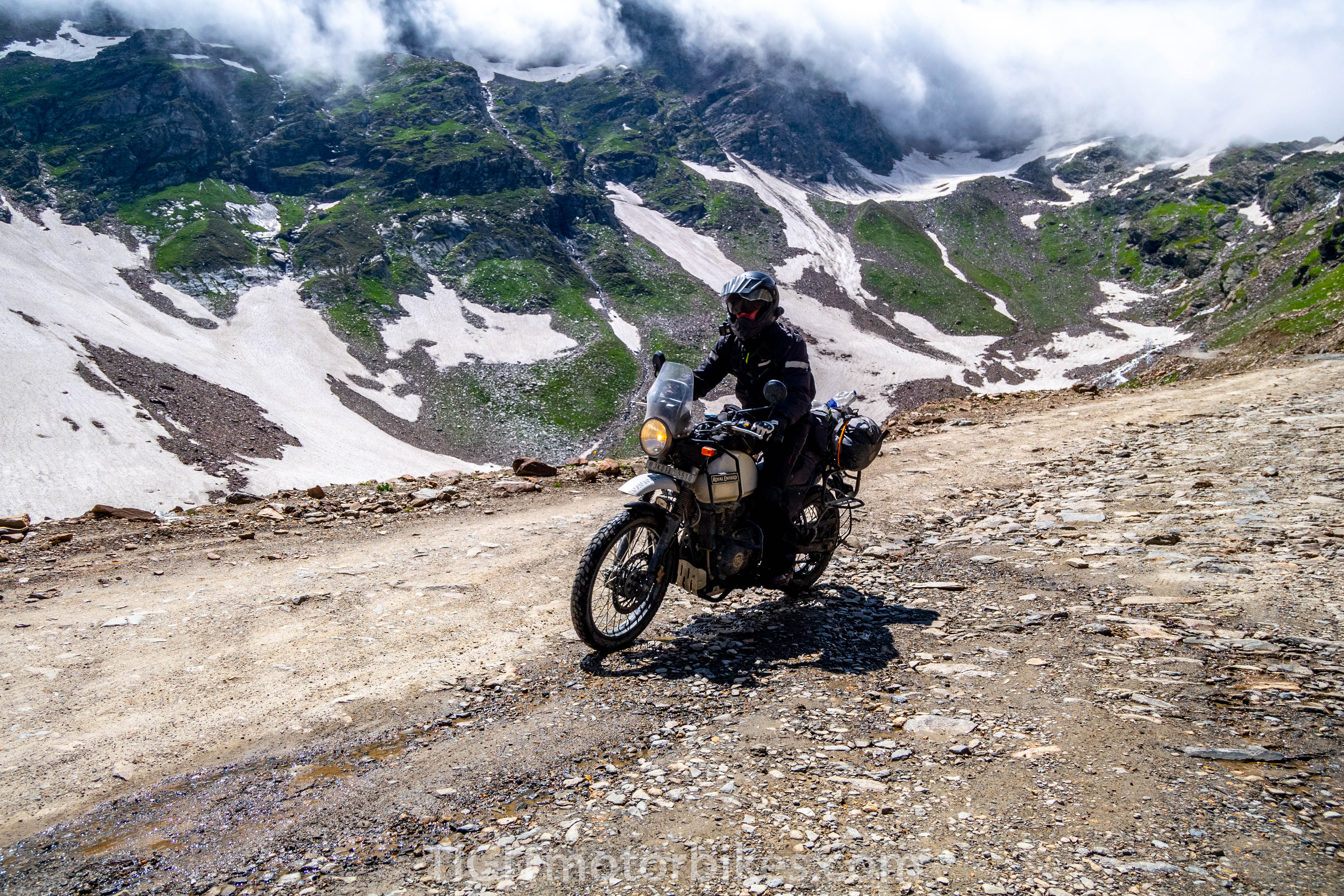 Challenging roads in the Himalayas