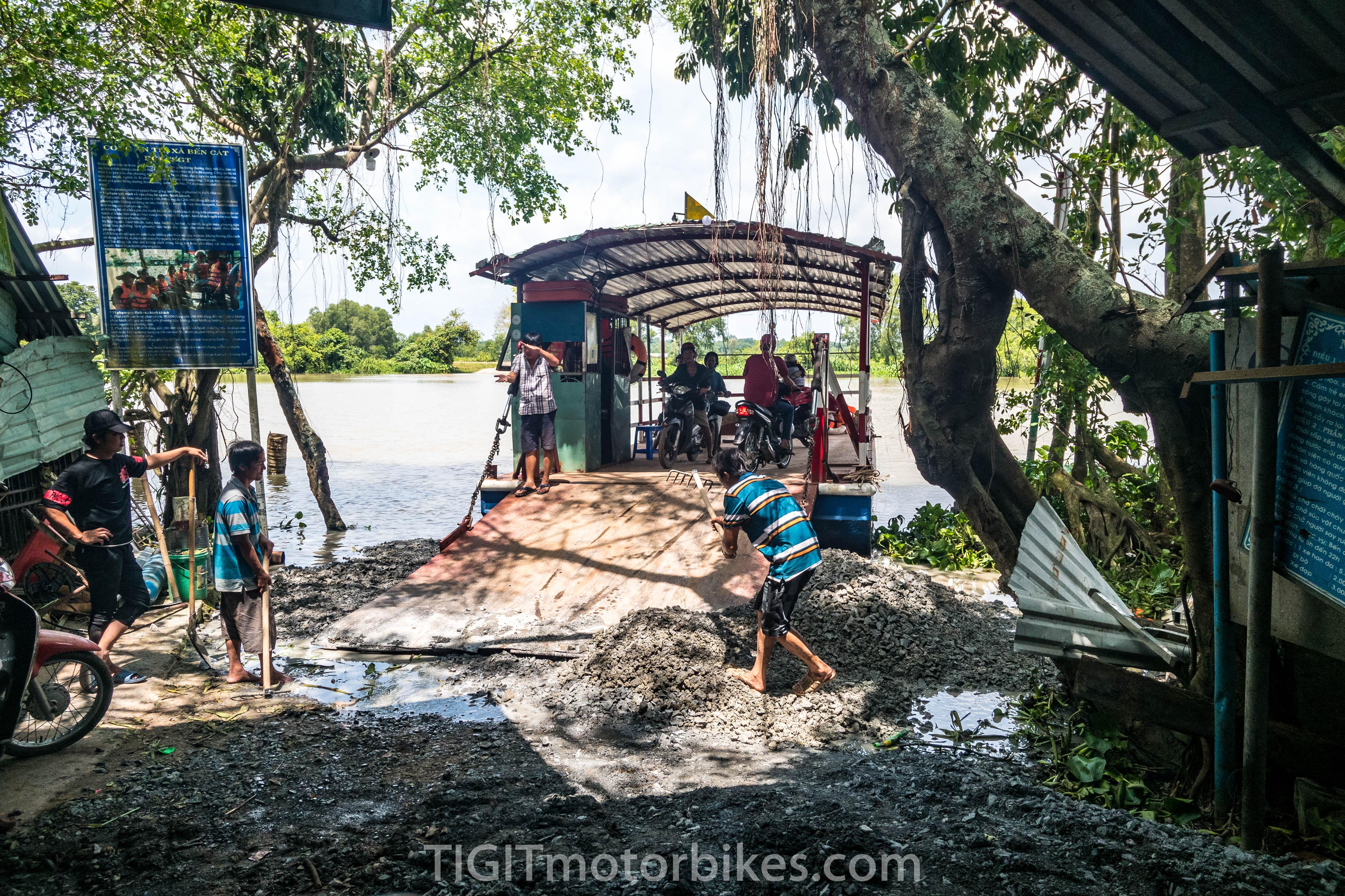 Ferry crossing Cu Chi Tunnels
