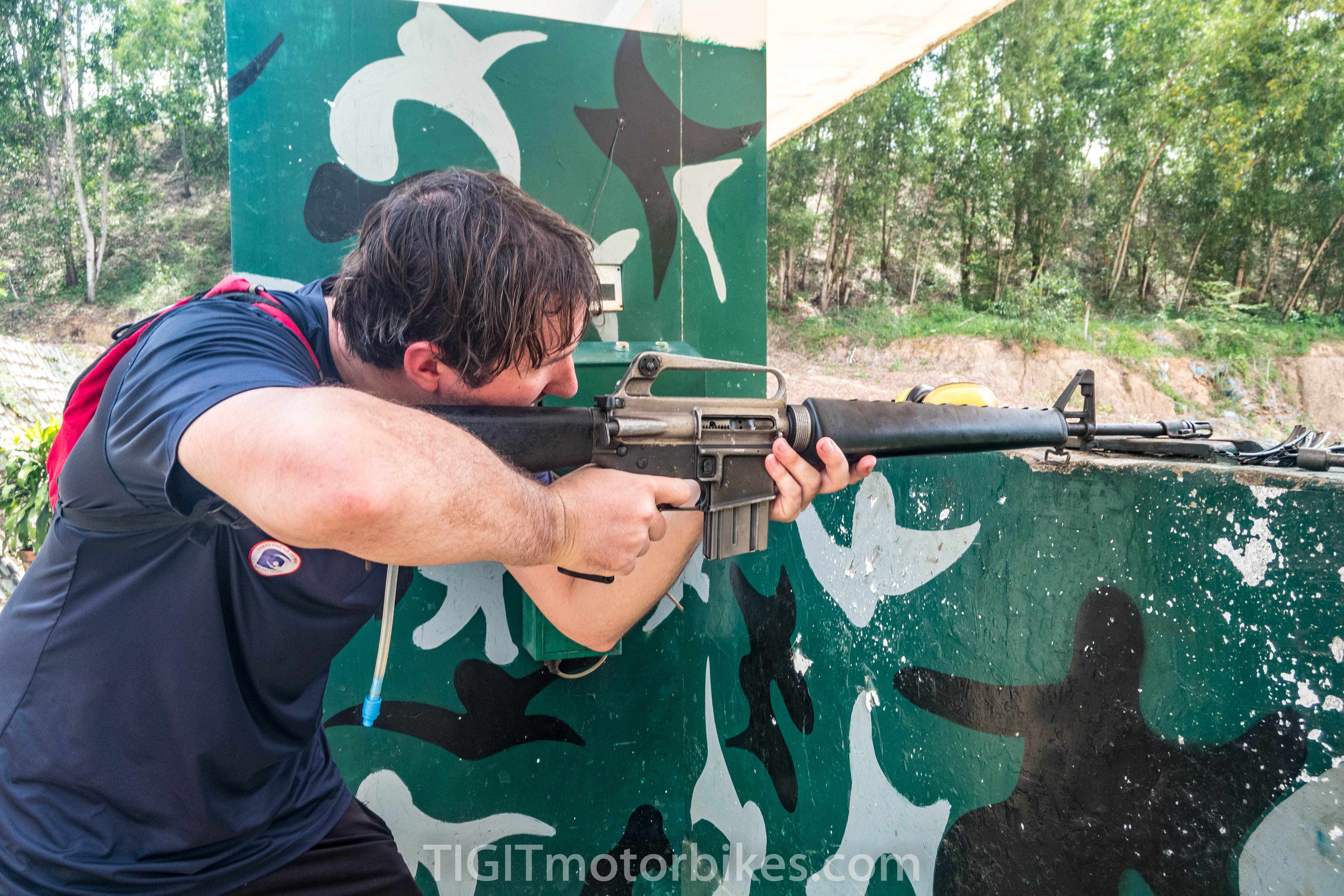 Shooting at Cu Chi Tunnels
