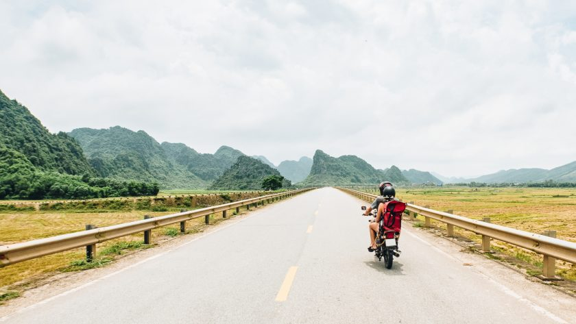 Riding in Vietnam countryside