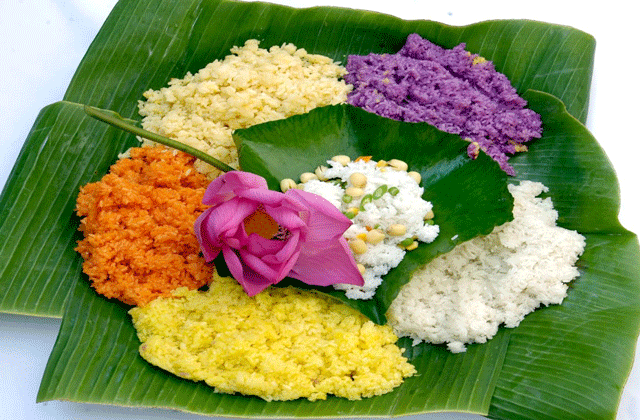 Seven colour sticky rice