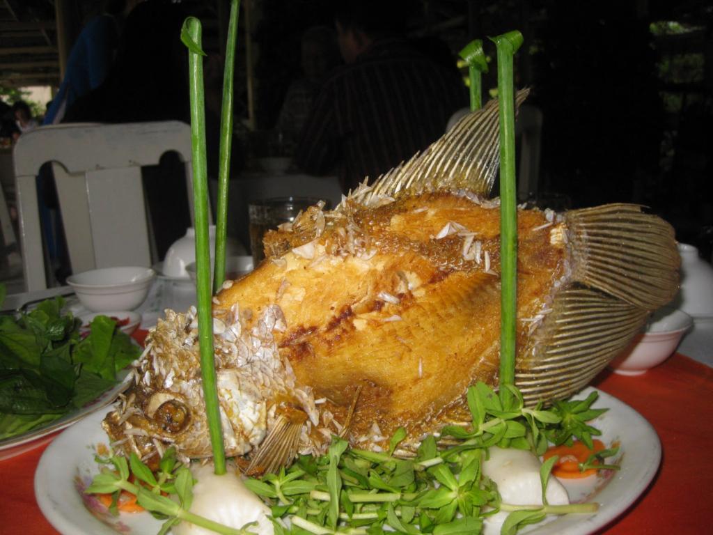 Fried elephant ear fish