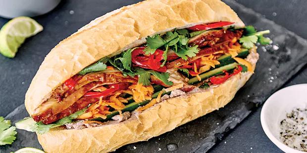 Vietnamese baguette sandwich