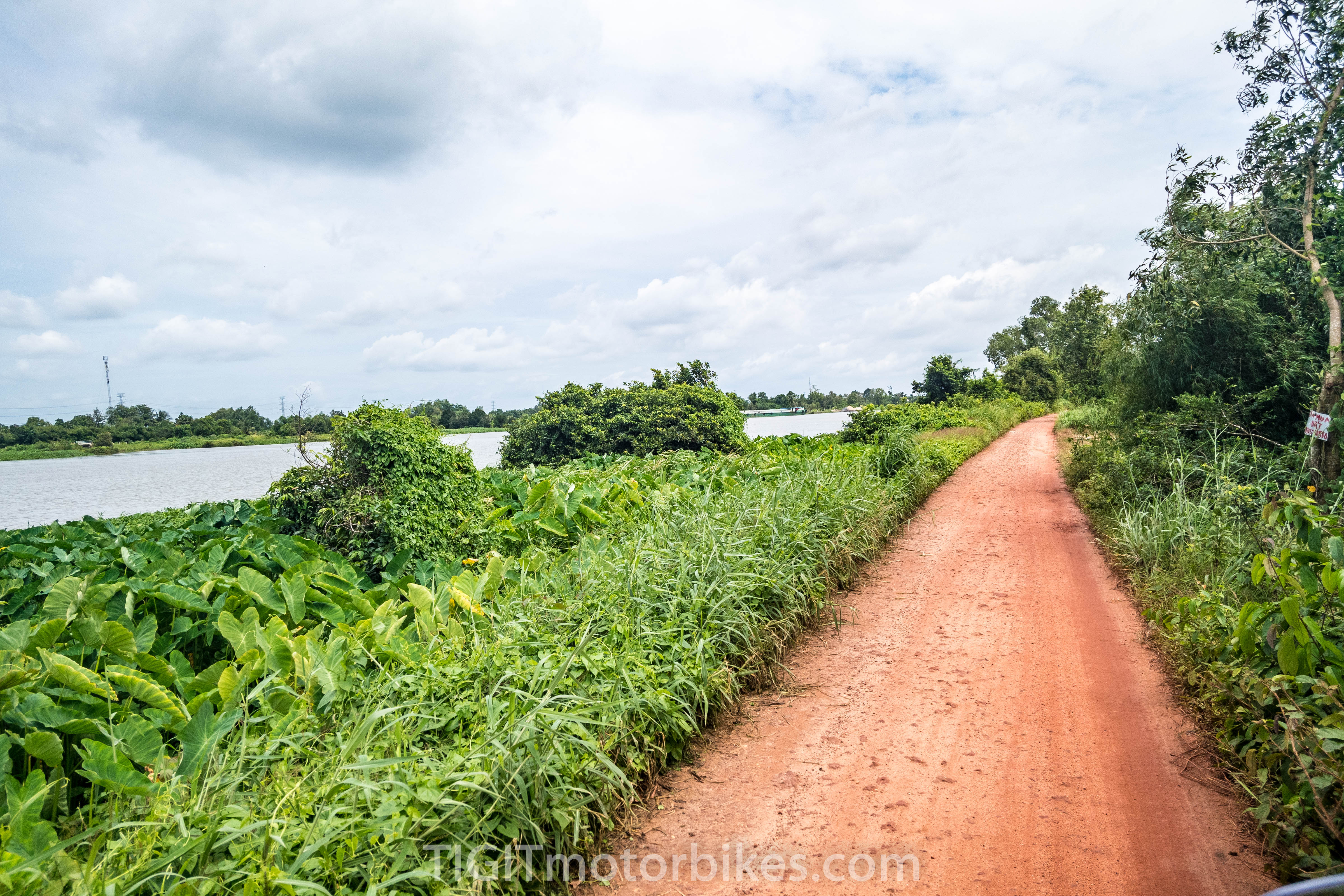 Mild clay backroad Vietnam