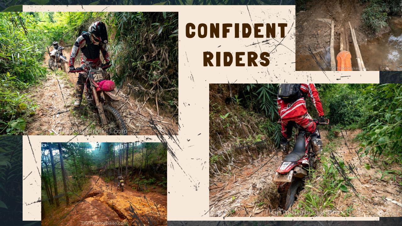 confident riders