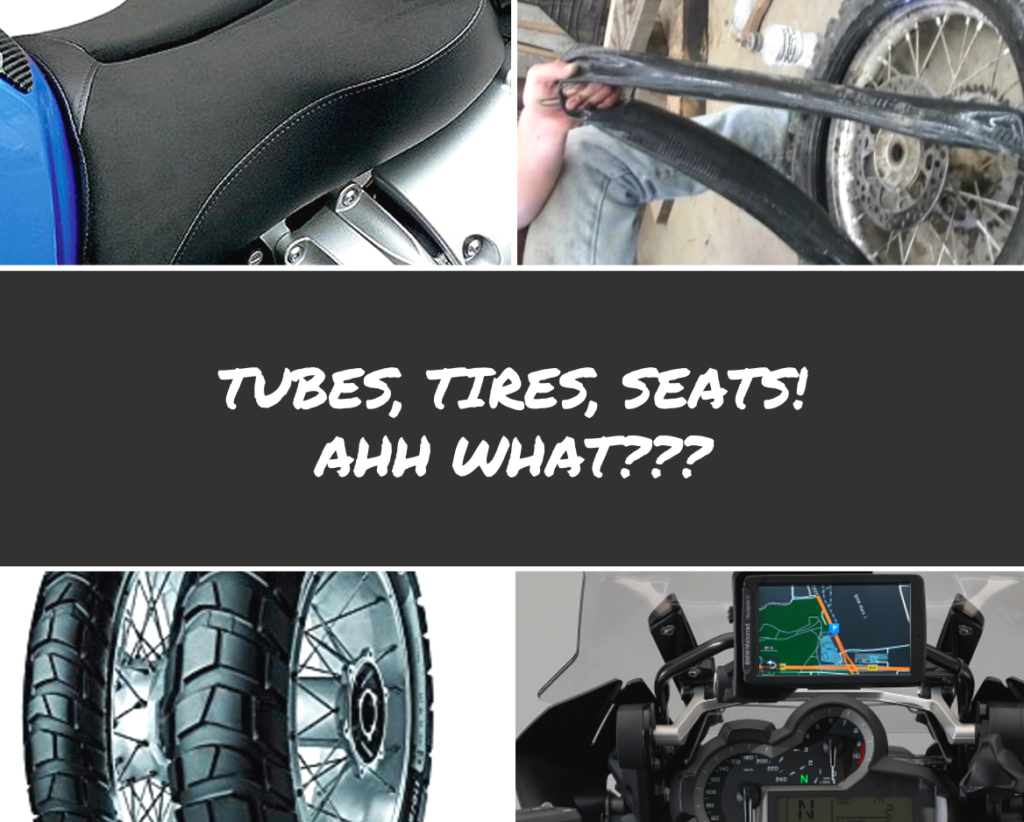 Tubes, Tires, Seats