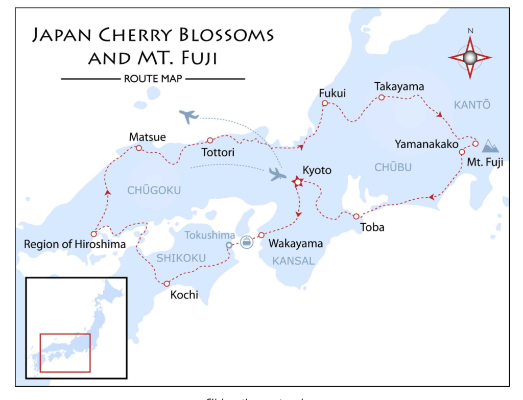 Japan Cheery Blossom Tour