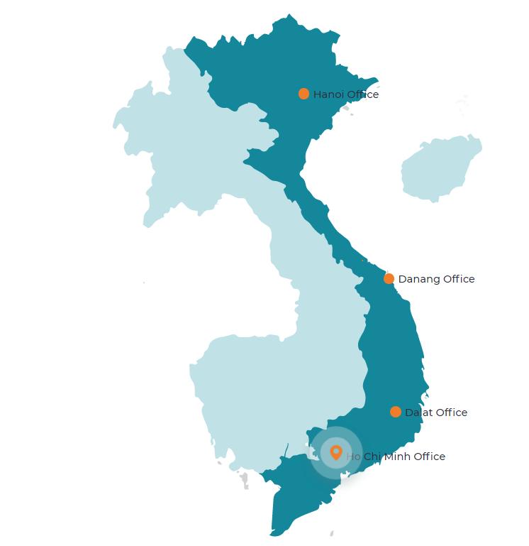 ベトナム各地のオフィス