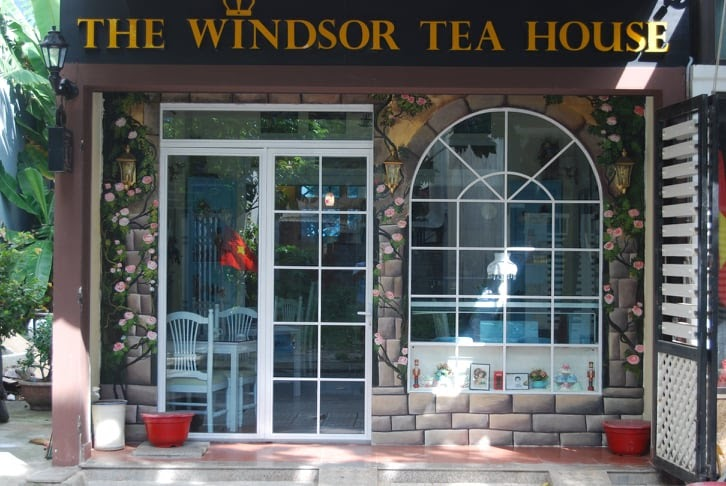 Windsor tea house entrance