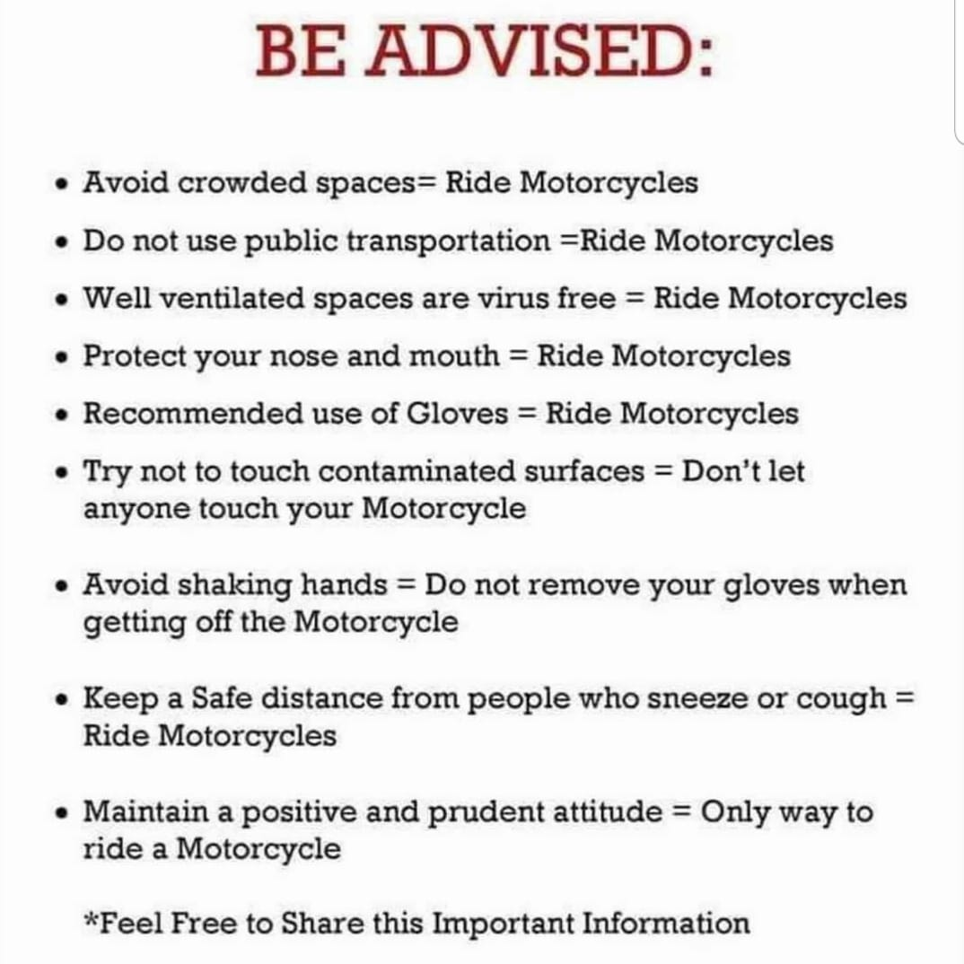 stay safe from corona with riding motorcycles