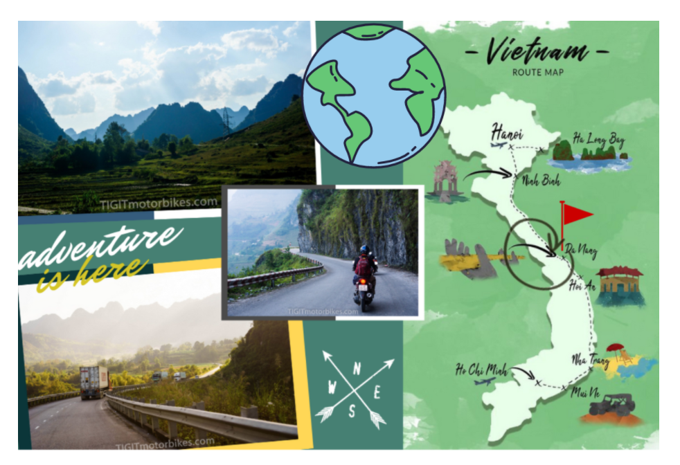 Vietnam Adventure Map