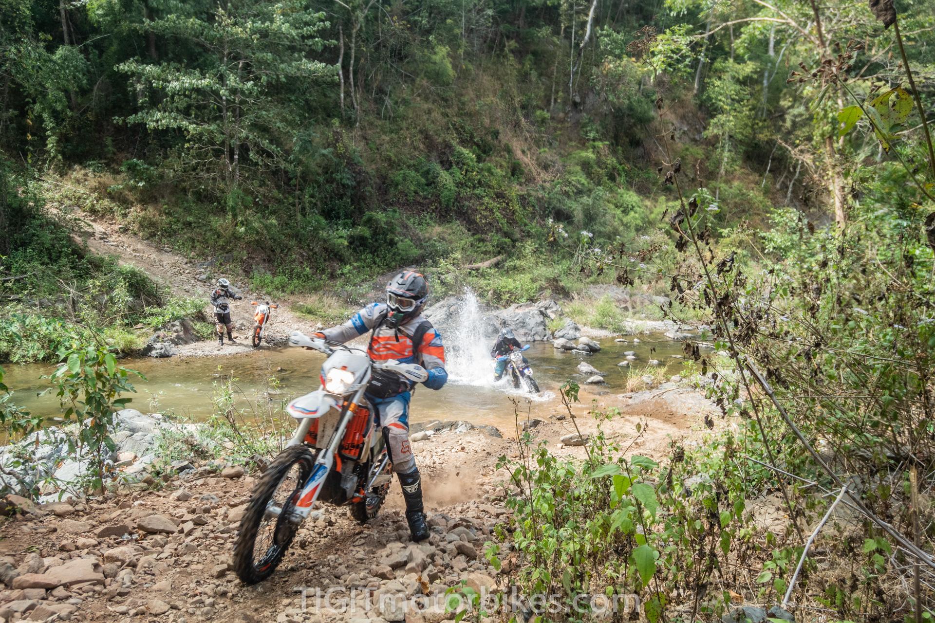 Enduro adventure riders in Vietnam
